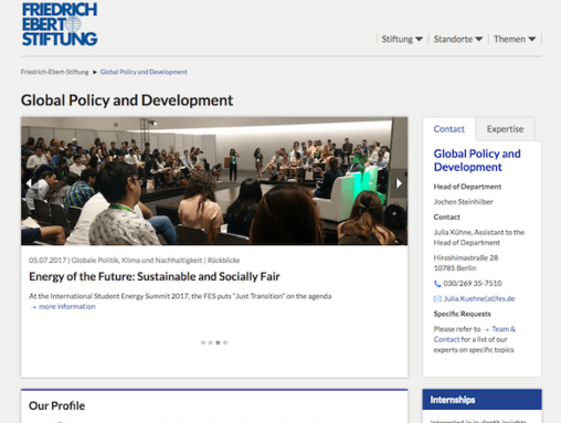 Global Policy and Development